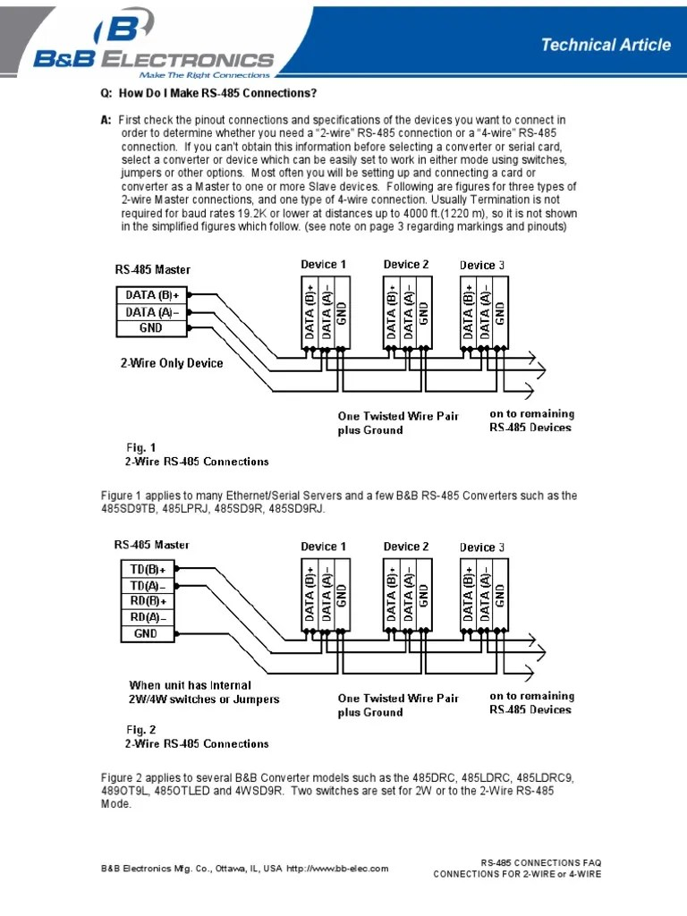hight resolution of rs 485 2wire wiring diagram db25