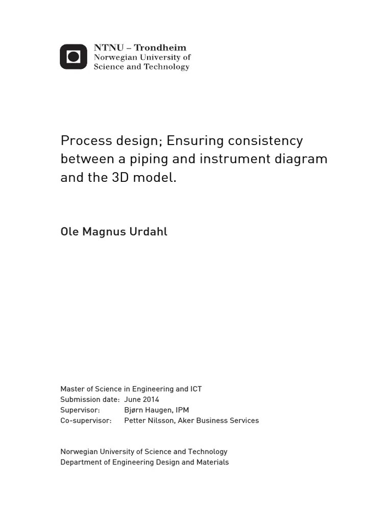 aveva pid diagram process design ensuring consistency between  [ 768 x 1024 Pixel ]