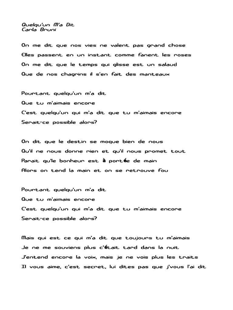 Casse - Paroles de Chansons : Paroles et traductions de