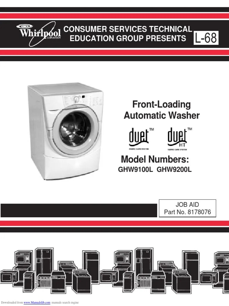hight resolution of whpl duet ghw9100l washer service manual washing machine ac power plugs and sockets