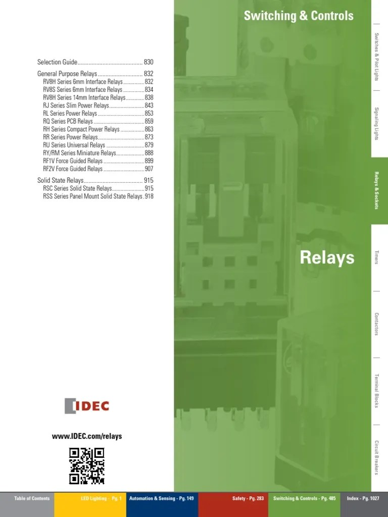small resolution of idec ry4 relay wiring diagram