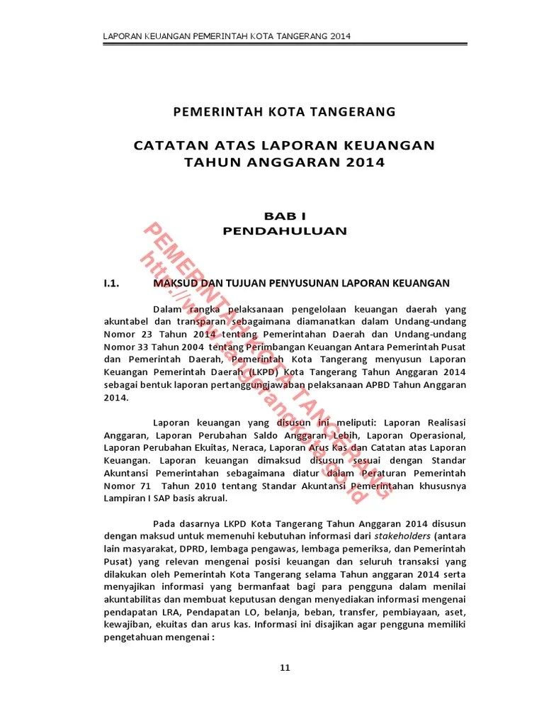 Contoh Laporan Perubahan Saldo Anggaran Lebih Pemerintah Daerah Temukan Contoh Cute766