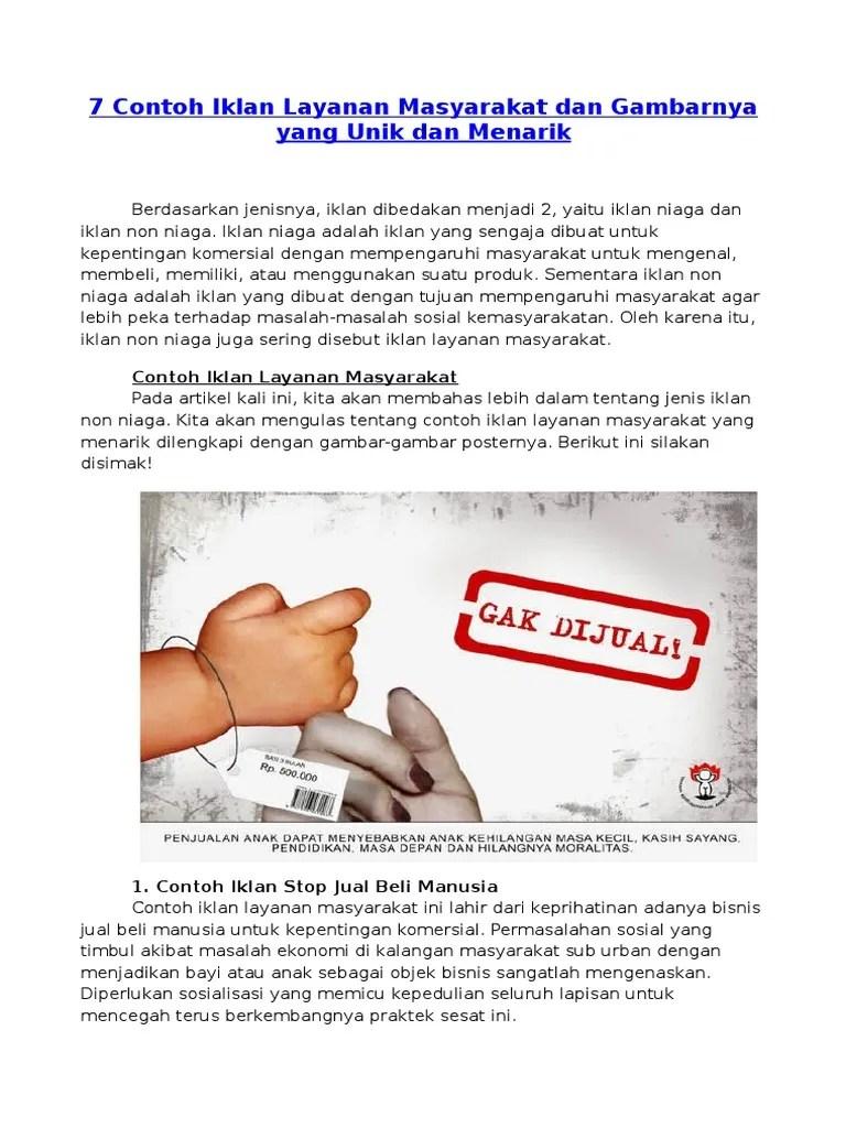 Contoh Iklan Non Niaga : contoh, iklan, niaga, Contoh, Iklan, Layanan, Masyarakat, Gambarnya, Menarik
