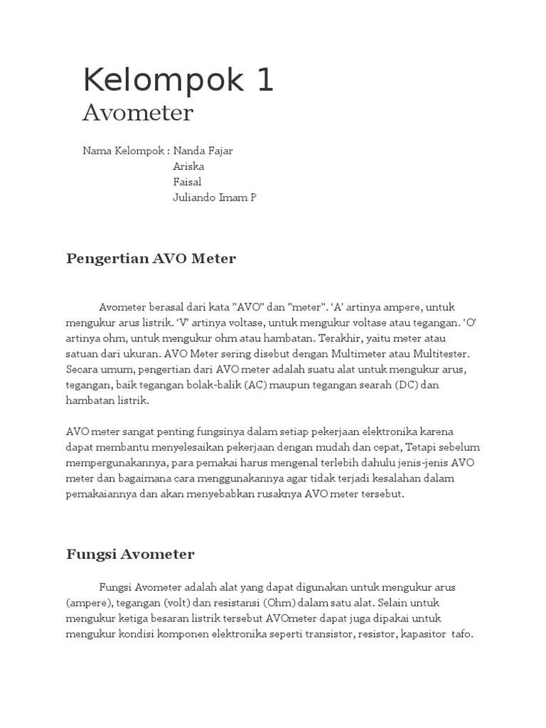 Pengertian Avometer : pengertian, avometer, Pengertian, Meter.docx