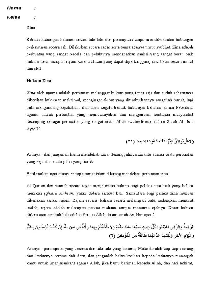 Ayat Yang Menjelaskan Tentang Zina : menjelaskan, tentang, Mukson, Ghoiru