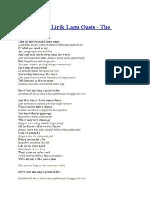 Arti Lagu Dont Look Back In Anger : anger, Terjemahan, Lirik, Oasis