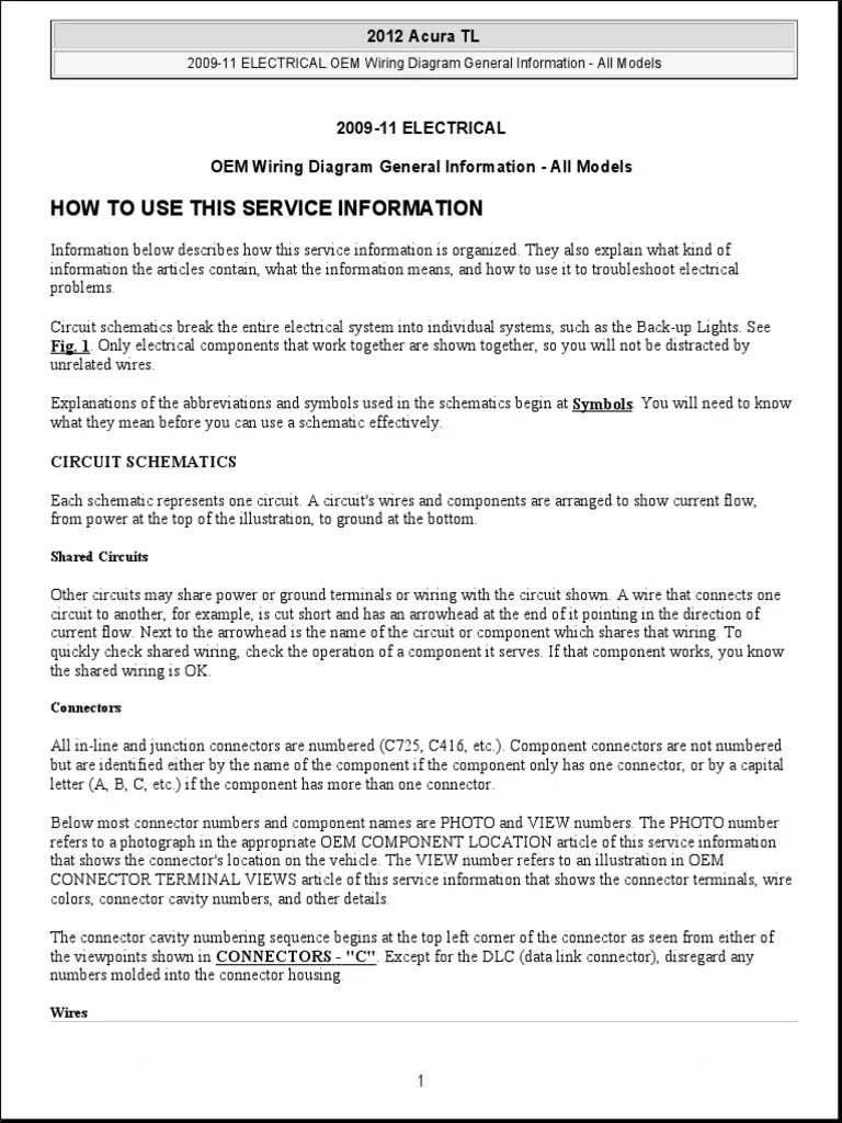 2009 11 electrical oem wiring diagram general information all models electrical resistance and conductance electrical connector [ 768 x 1024 Pixel ]
