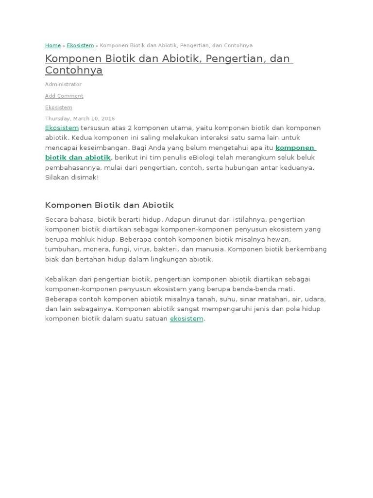 Pengertian Biotik Dan Abiotik : pengertian, biotik, abiotik, Pengertian, Biotik, Abiotik, Beserta, Contohnya, Aneka, Macam, Contoh