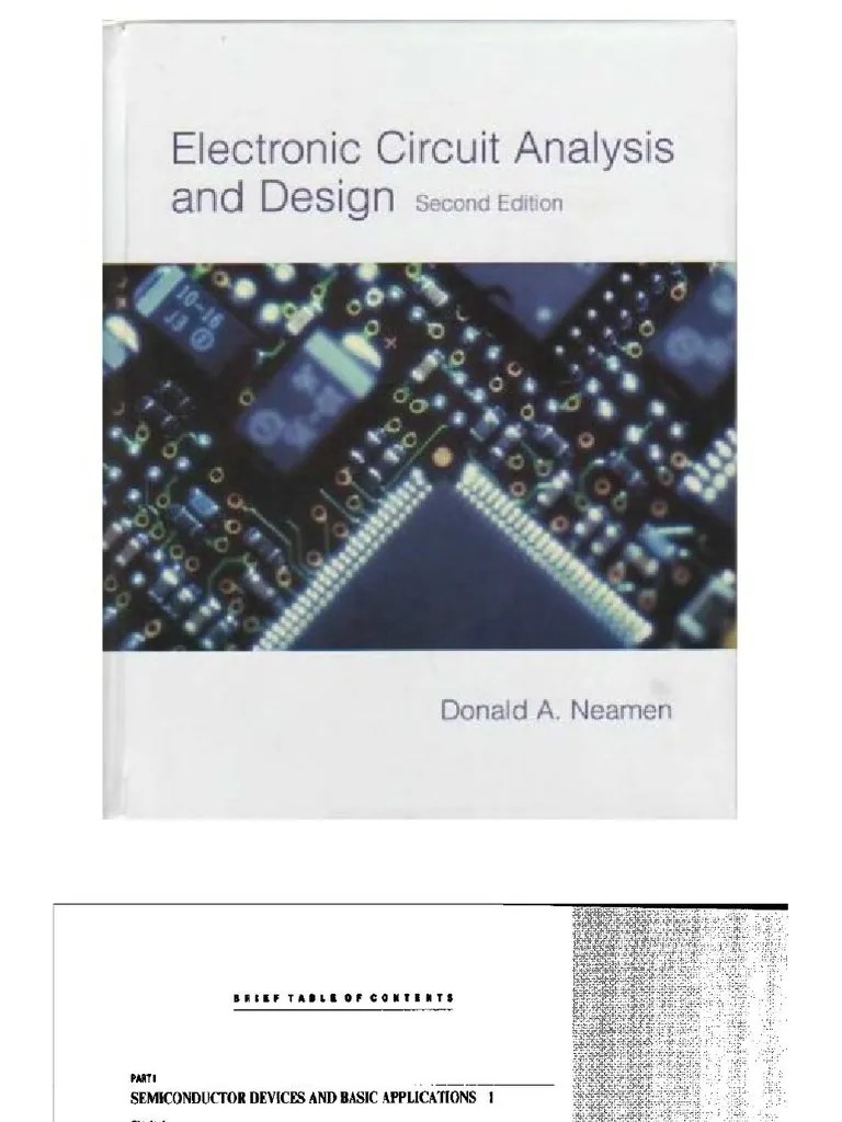 Electronic Circuit Analysis And Design 4th Edition Solution Manual