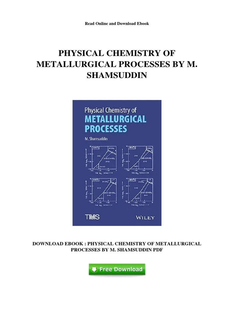medium resolution of physical chemistry of metallurgical processes by m shamsuddin metallurgy 292 views