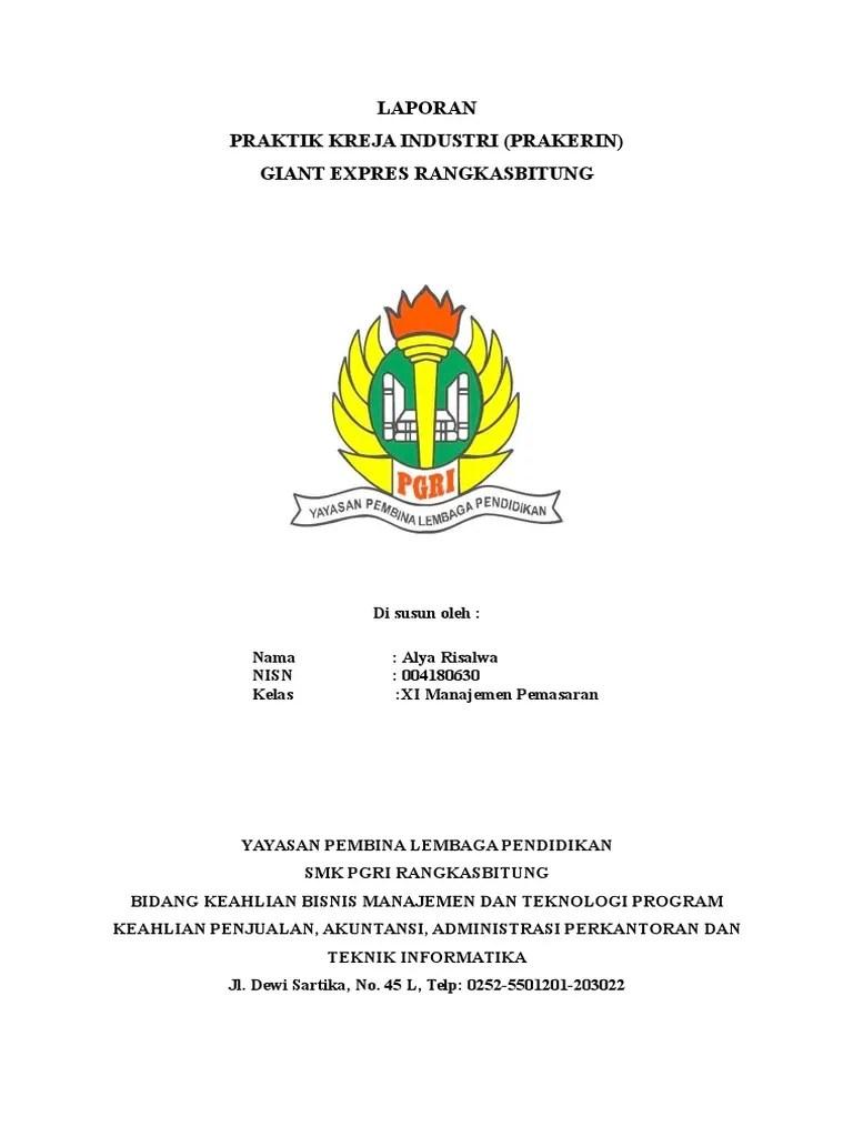 Contoh Laporan Hasil Pkl Smk Jurusan Administrasi Perkantoran Kumpulan Contoh Laporan Cute766