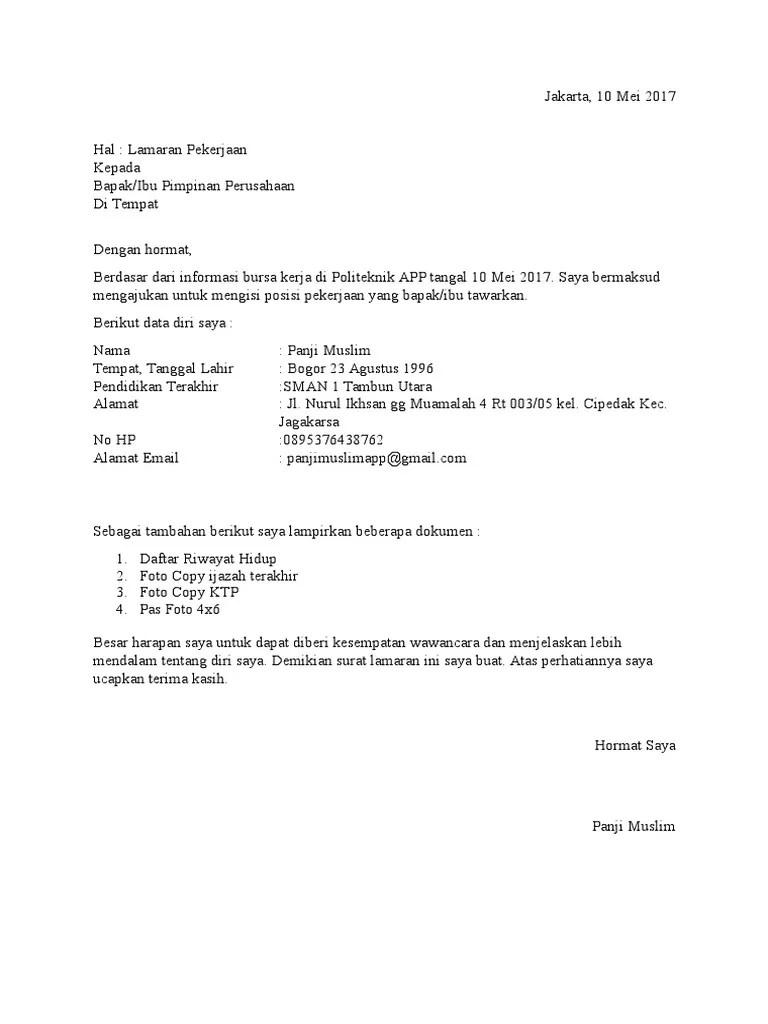 Surat Lamaran Kerja Tanpa Lowongan : surat, lamaran, kerja, tanpa, lowongan, Contoh, Surat, Lamaran, Kerja, Tanpa, Perusahaan