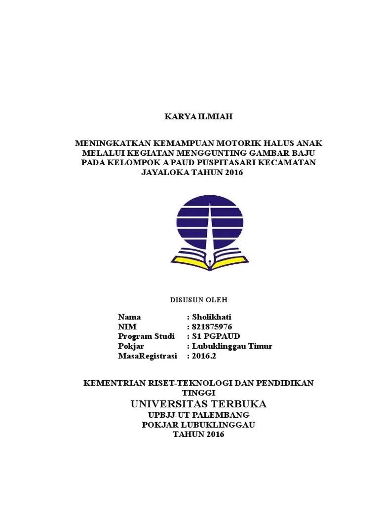 Contoh Karya Ilmiah Universitas Terbuka Fisip Contoh Run Cute766