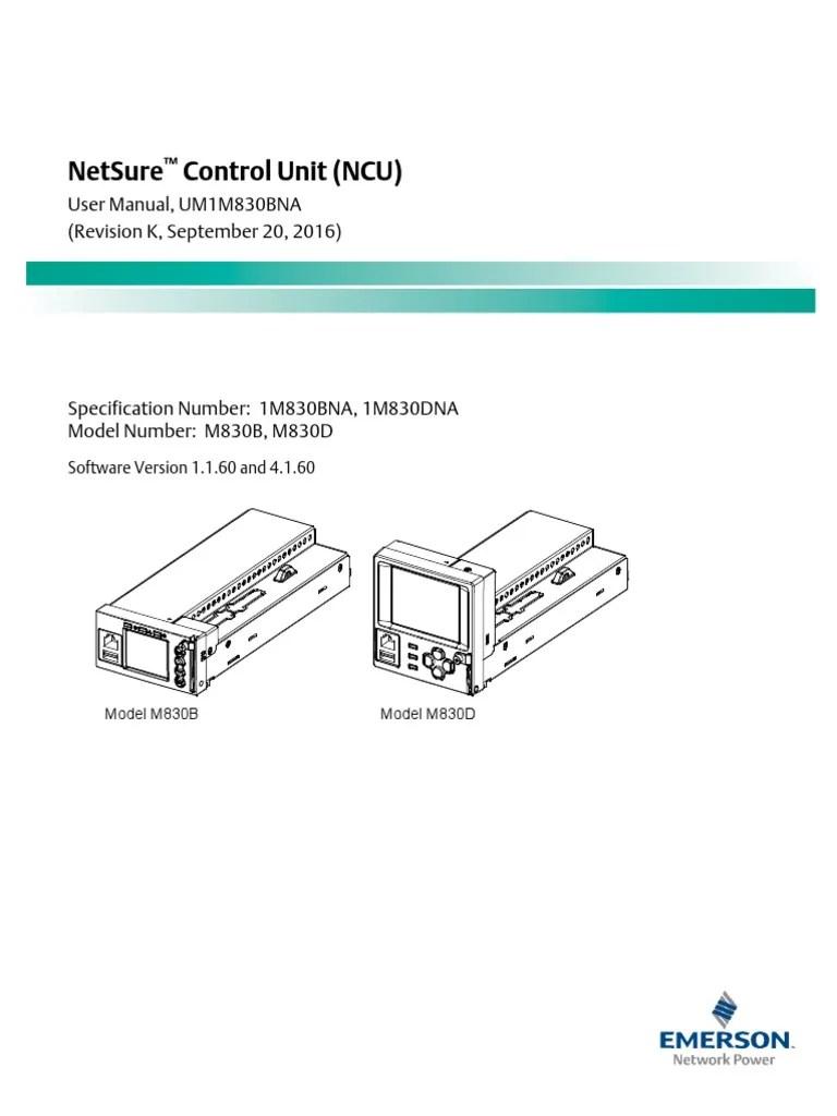 Netsure Control Unit Um1m830bna | Computer Network | Menu (Computing)