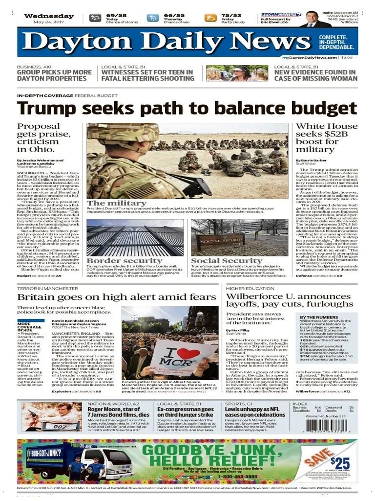 Dayton Daily News May 24 2017 Business Nature