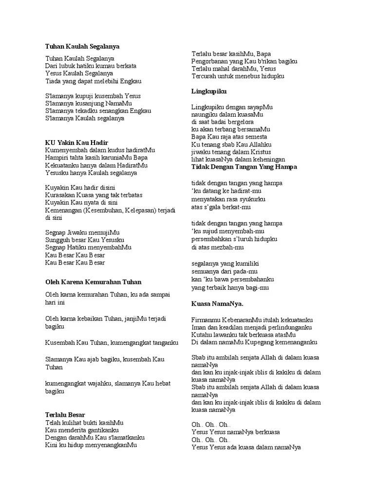 Lirik Lagu Kemenanganku : lirik, kemenanganku, Tuhan, Kaulah, Segalanya