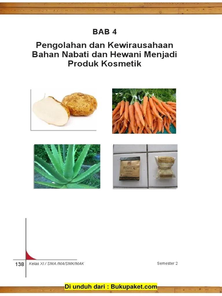 Bahan Hewani Untuk Kosmetik : bahan, hewani, untuk, kosmetik, Pengolahan, Kewirausahaan, Bahan, Nabati, Hewani, Menjadi, Produk, Kosmetik