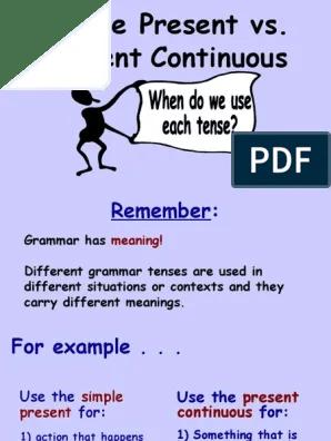 English ESL simple present tense Powerpoint presentations