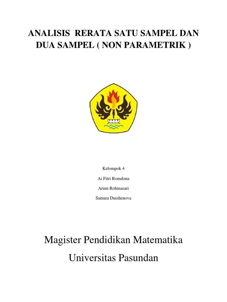 Makalah Statistik Non Parametrik : makalah, statistik, parametrik, Makalah, Statistika, Parametrik