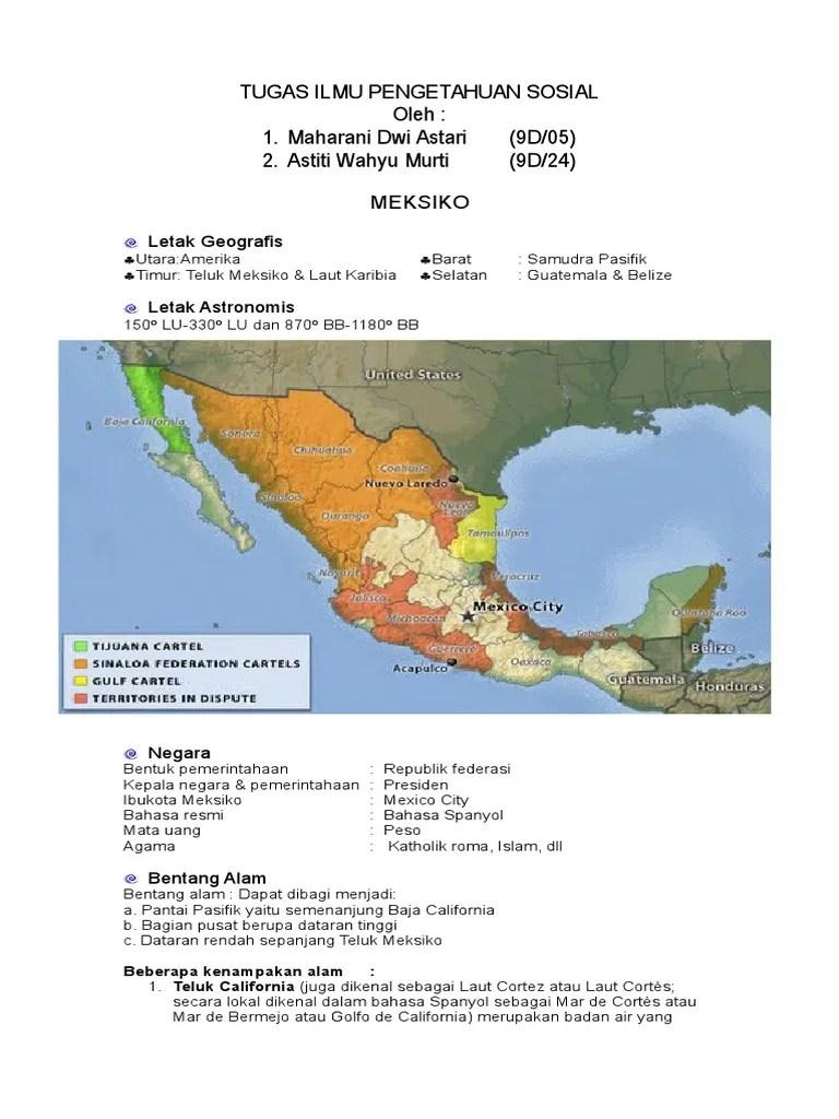 Letak Astronomis Meksiko : letak, astronomis, meksiko, MEKSIKO