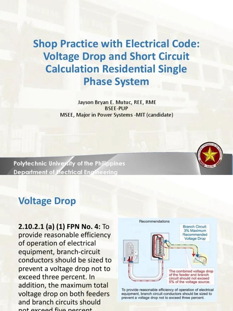 lecture 12 voltage drop and short circuit calculation electric current voltage [ 768 x 1024 Pixel ]