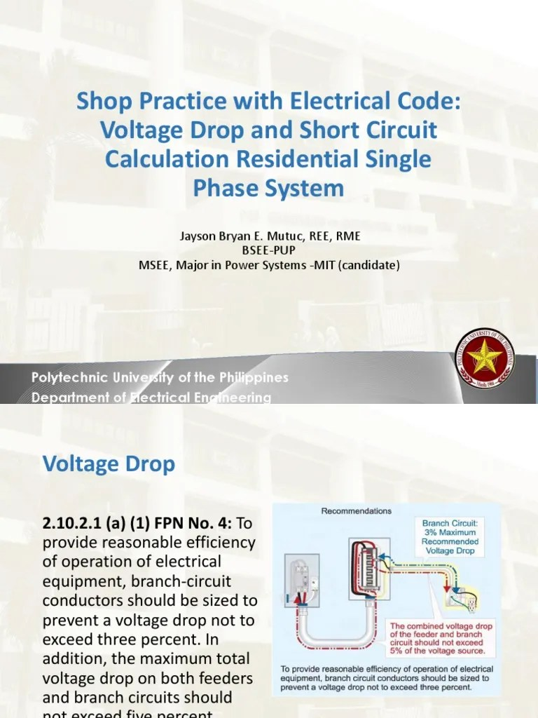 medium resolution of lecture 12 voltage drop and short circuit calculation electric current voltage