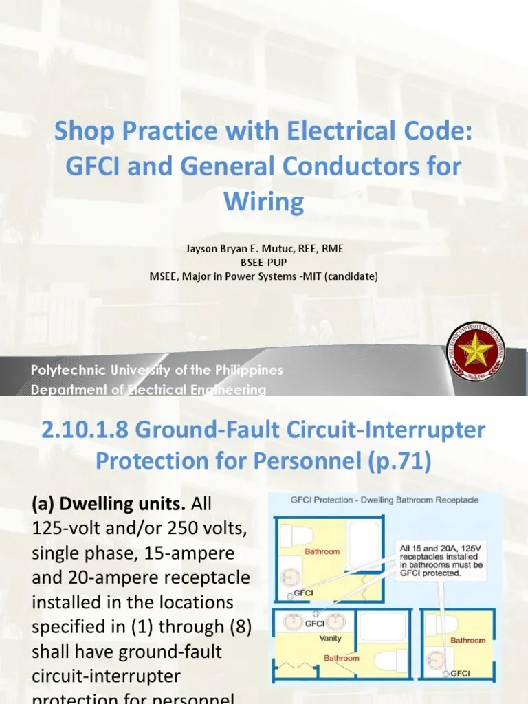 lecture 14 gfci and general conductors for wiring electrical conductor electrical wiring [ 768 x 1024 Pixel ]