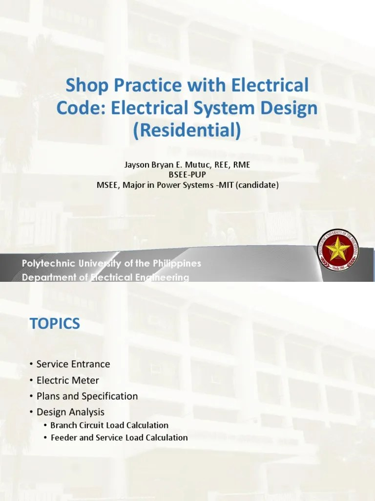 hight resolution of lecture 11 electrical system design residential electrical wiring fuse electrical