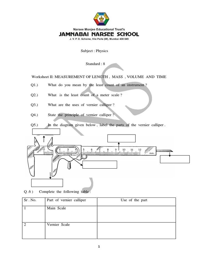 medium resolution of schematic diagram of vernier caliper