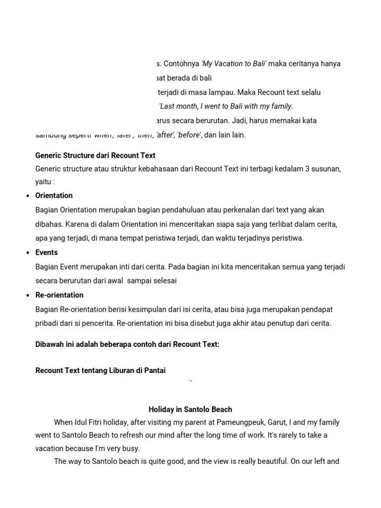 Contoh Recount Text Tentang Liburan : contoh, recount, tentang, liburan, Contoh, Recount, Liburan, Rumah, Sekitar, Cute766