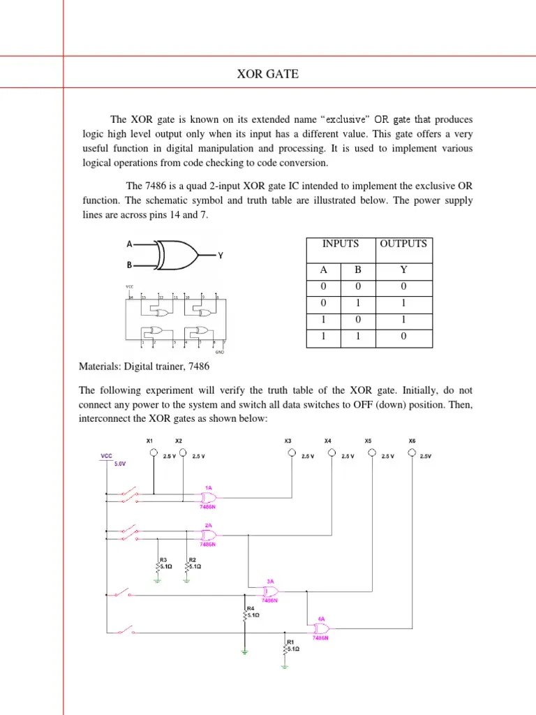 hight resolution of logic diagram of xor gate
