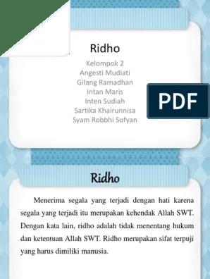 Adil, Ridho, dan Amal Saleh - SlideShare