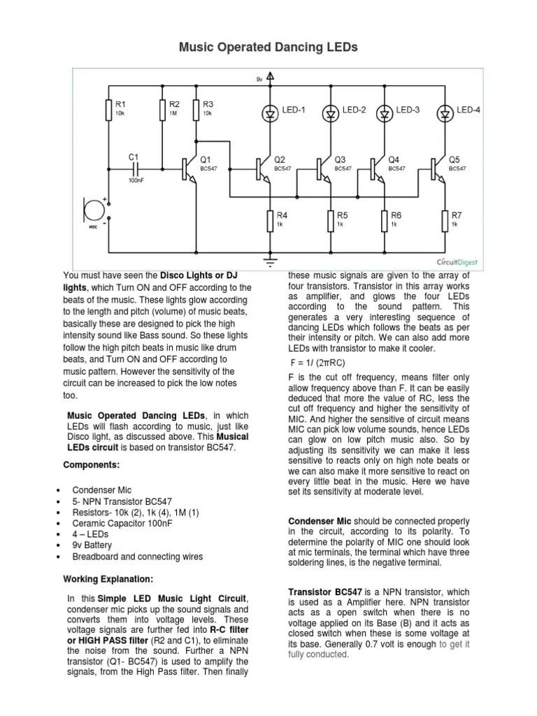 medium resolution of led circuit diagram dancing