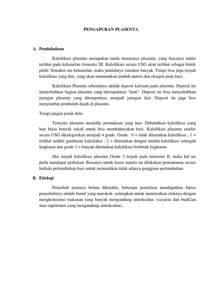 Penyebab Pengapuran Plasenta : penyebab, pengapuran, plasenta, Plasenta, Amnion
