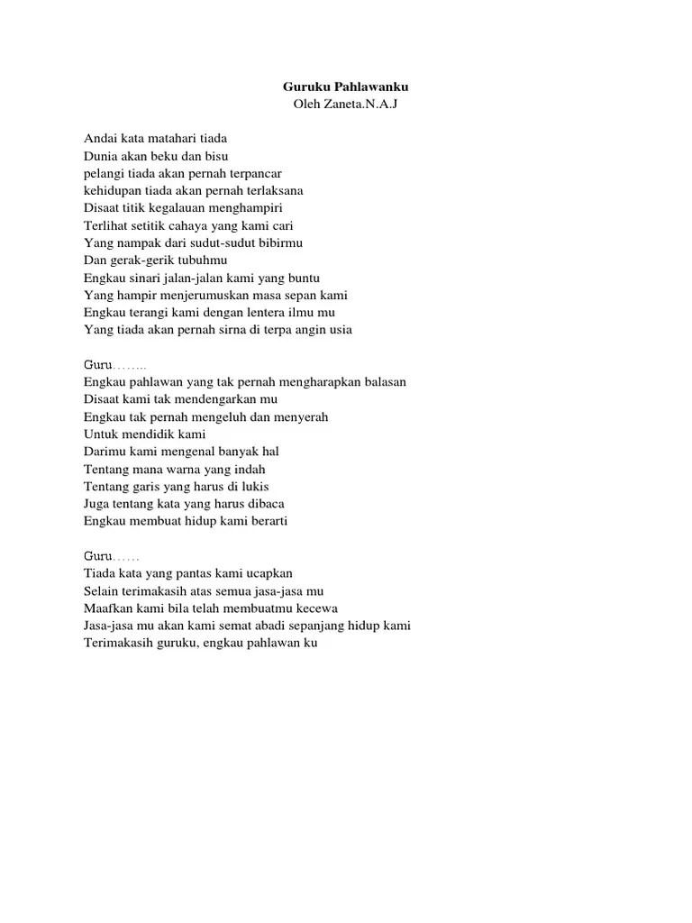 Puisi Tentang Pahlawan Yang Berjasa Kami
