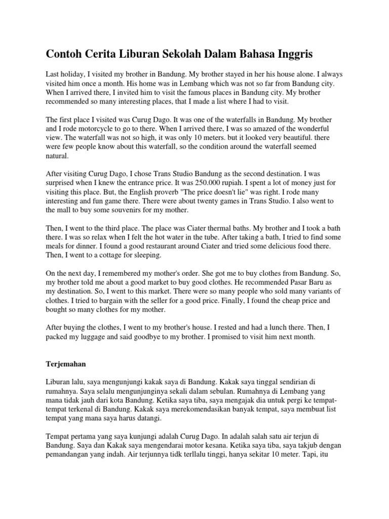 Cerita Tentang Liburan Dalam Bahasa Inggris : cerita, tentang, liburan, dalam, bahasa, inggris, Contoh, Cerita, Liburan, Sekolah, Dalam, Bahasa, Inggris, Leisure, Nature