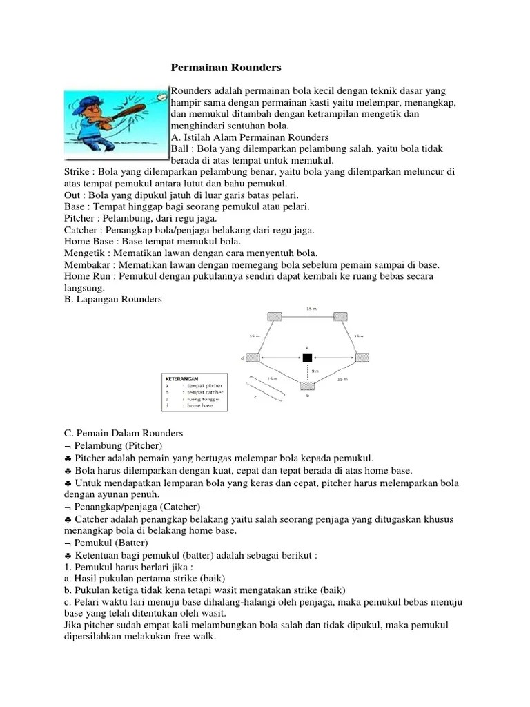 Aturan Permainan Rounders : aturan, permainan, rounders, Permainan, Rounders.docx