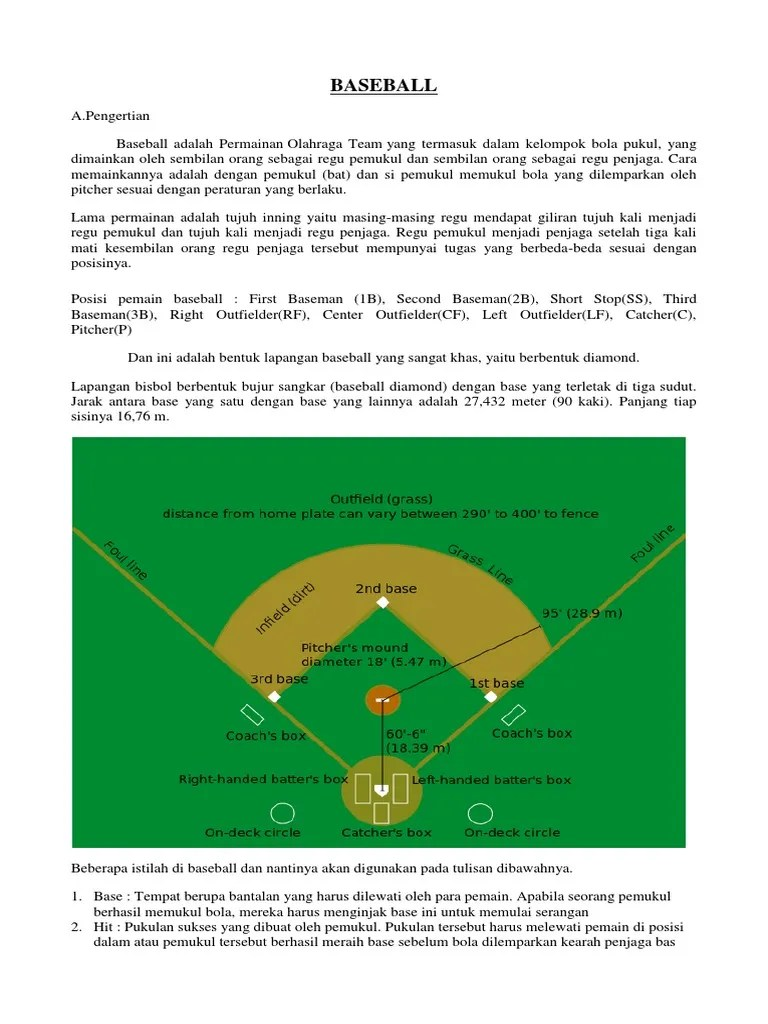 Pengertian Permainan Baseball : pengertian, permainan, baseball, Baseball