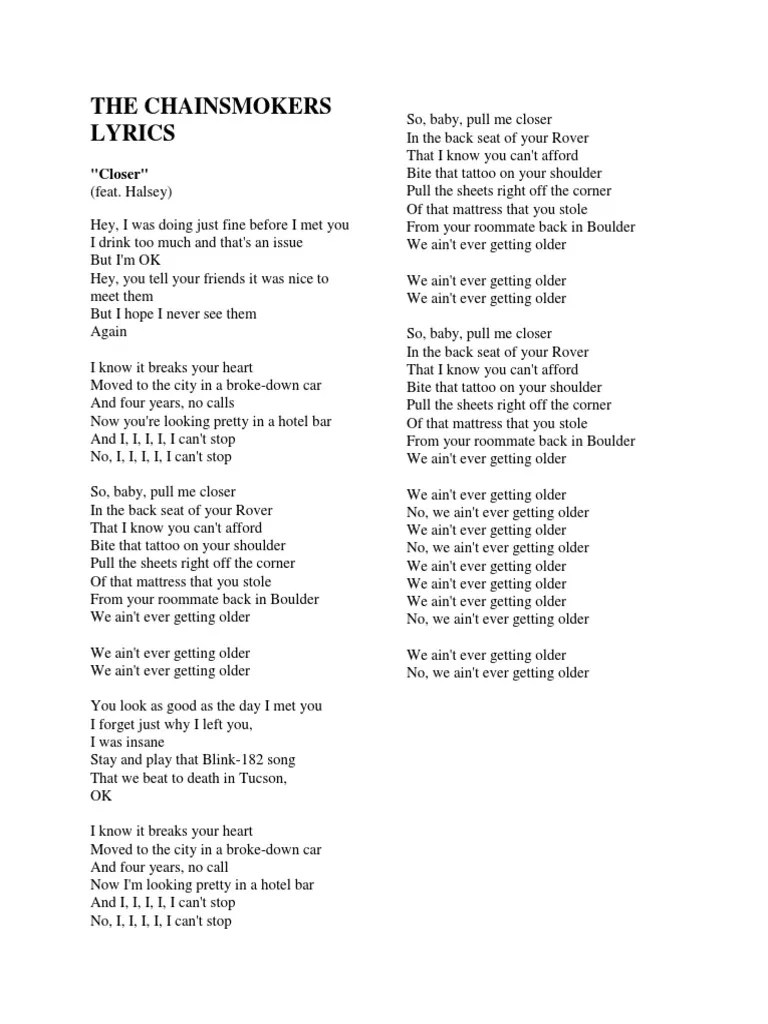 I Was Doing Just Fine Before I Met You Lyrics : doing, before, lyrics, Chainsmokers, Lyrics, Leisure