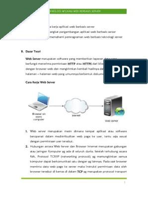 Perangkat Pengembangan Aplikasi Web Berbasis Server : perangkat, pengembangan, aplikasi, berbasis, server, Pengertian, Server.pdf