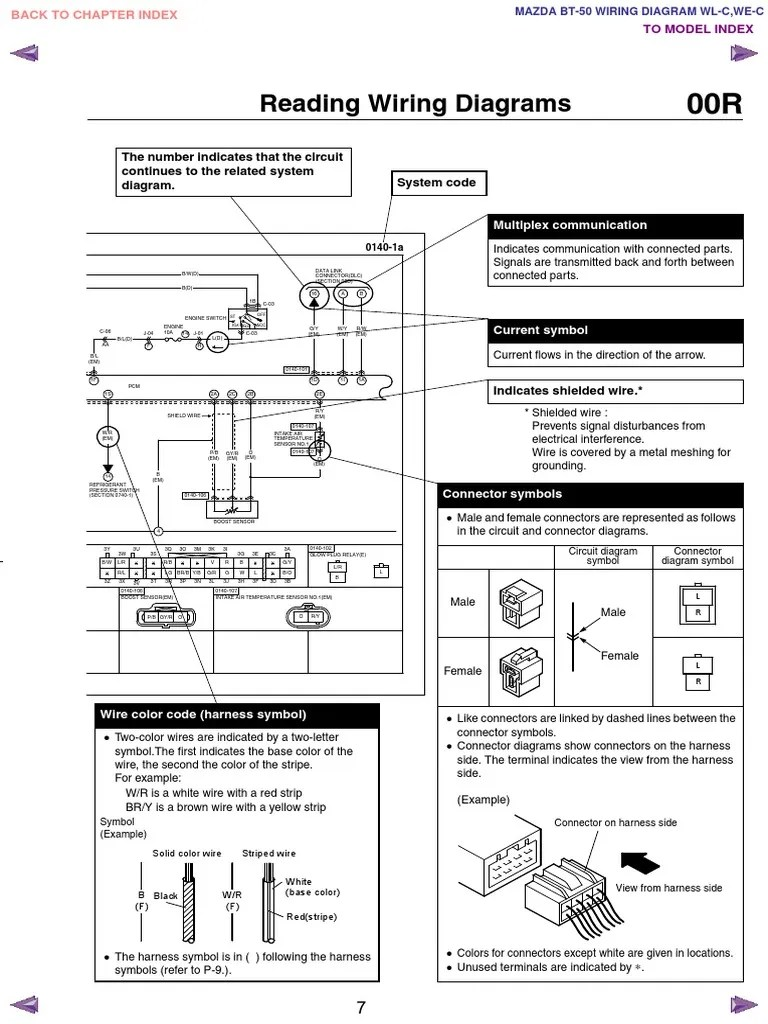 hight resolution of mazda bt50 wl c we c wiring diagram f198 30 05l7 electrical connector electric power