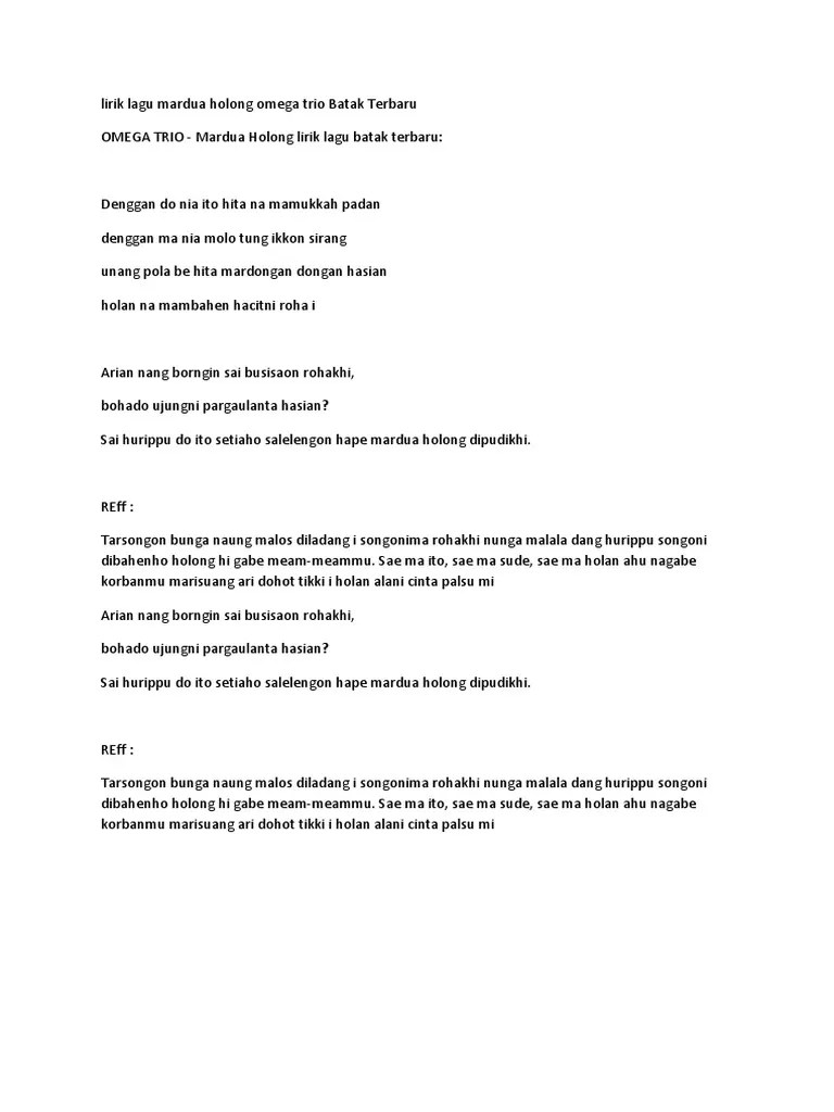Arti Lagu Mardua Holong : mardua, holong, Mardua, Holong, Cover, Gambaran