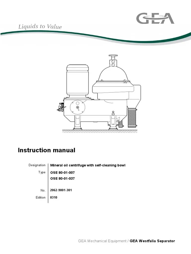westfalia separator o m manual model oso 80 01 007 switch mechanical engineering [ 768 x 1024 Pixel ]