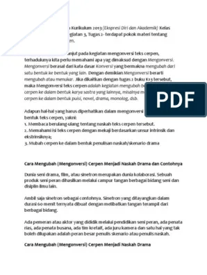 Kegiatan 8.8 Bahasa Indonesia Kelas 8 Halaman 224 : kegiatan, bahasa, indonesia, kelas, halaman, Mengubah, Cerpen, Batunya, Menjadi, Drama, Dengan