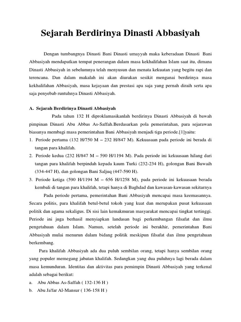 Proses Berdirinya Dinasti Abbasiyah : proses, berdirinya, dinasti, abbasiyah, Sejarah, Berdirinya, Dinasti, Abbasiyah