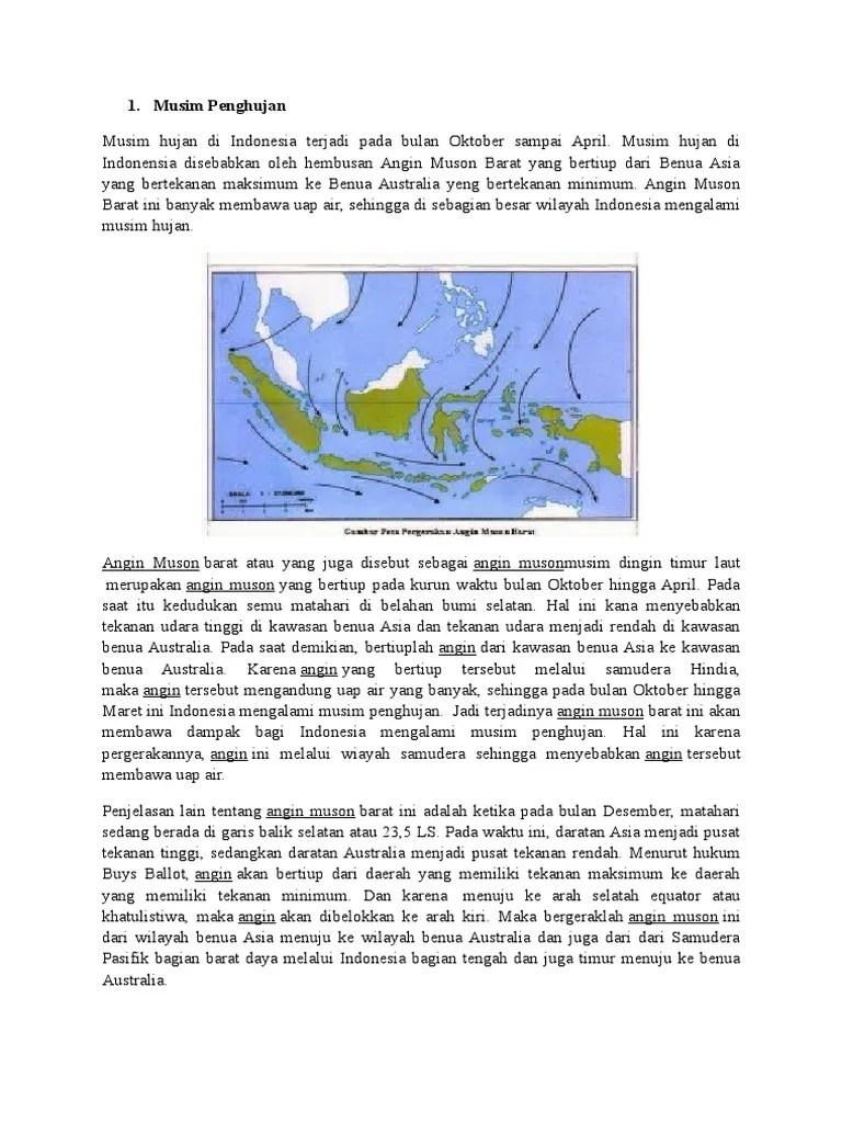Pada Bulan Apakah Musim Penghujan Terjadi Di Indonesia : bulan, apakah, musim, penghujan, terjadi, indonesia, Angin, Muson, Barat, Menyebabkan, Indonesia, Mengalami, Musim, Berbagai, Sebab