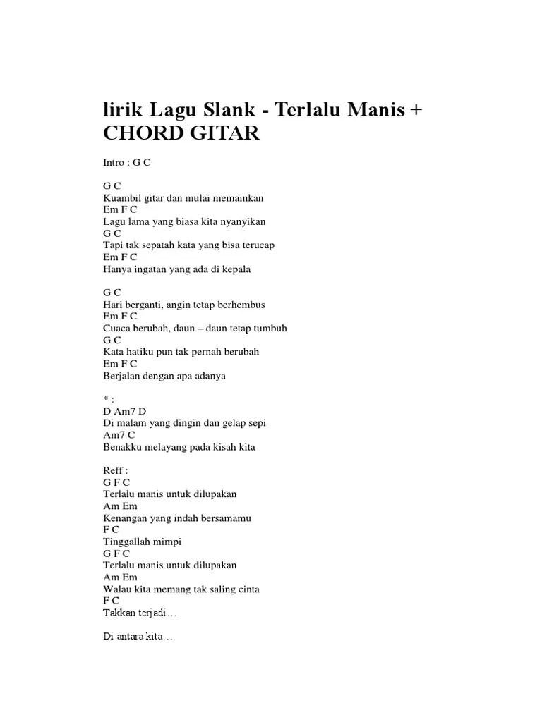 Chord Slank Terlalu Pahit : chord, slank, terlalu, pahit, Chord, Slank, Terlalu, Manis