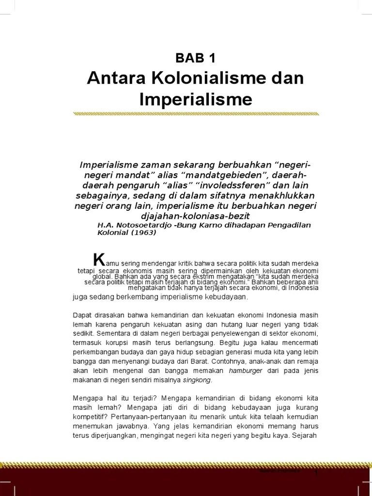 Antara Kolonialisme Dan Imperialisme : antara, kolonialisme, imperialisme, Antara, Kolonialisme, Imperialisme