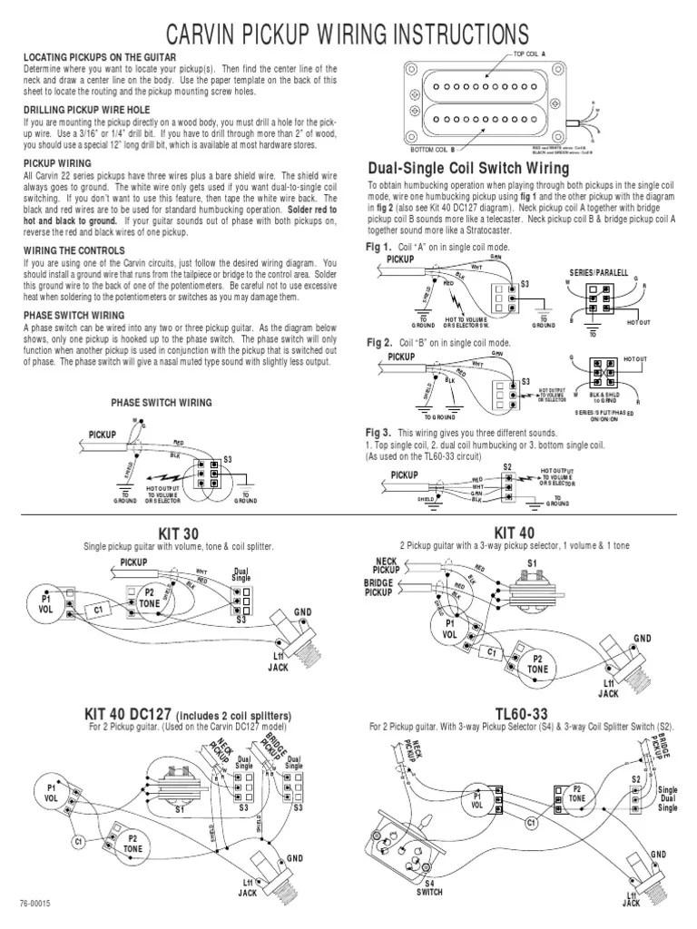 medium resolution of 1 single coil humbucker wiring