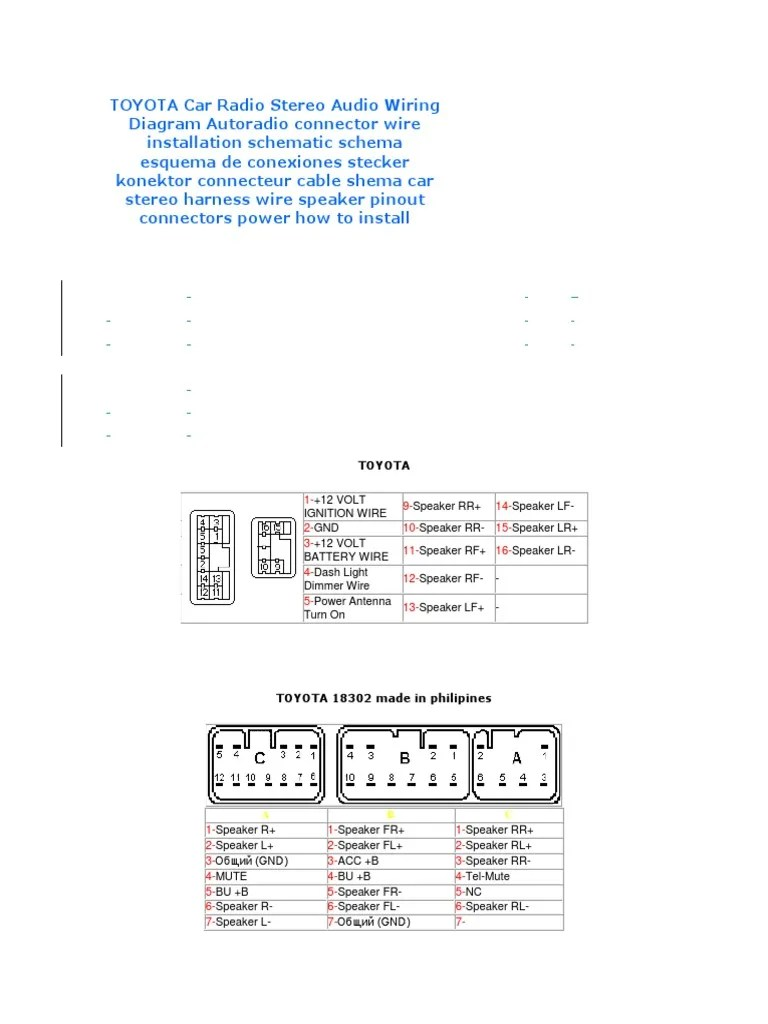 hight resolution of wiring toyota diagram 86120 58070 wiring diagram schematic 2003 toyota stereo wire colors toyota 86120 33060
